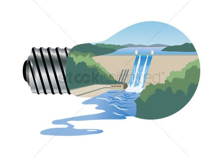 Electricity : Electrical concept of dam