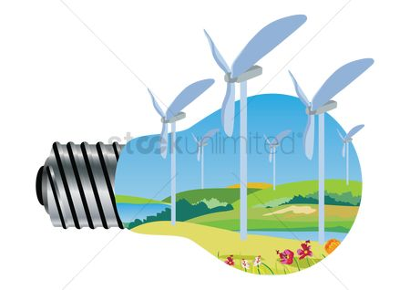 Electricity : Electrical concept of windmill