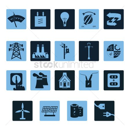 Lighting : Electricity related icon set