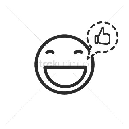 Notification : Emoticon icon with like notification