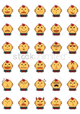Devils : Emoticons of boy