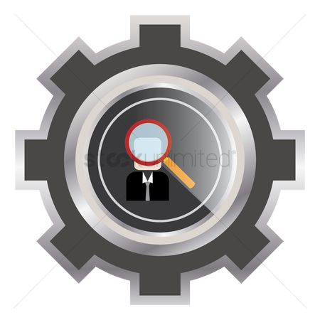 Workers : Employee concept in a cogwheel icon