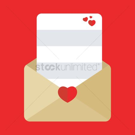 Heart : Envelope with love card