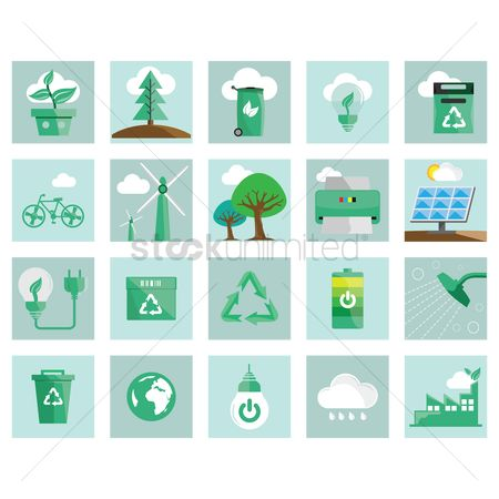 Recycle bin : Environment icons