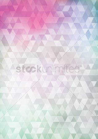 Copy spaces : Faceted background