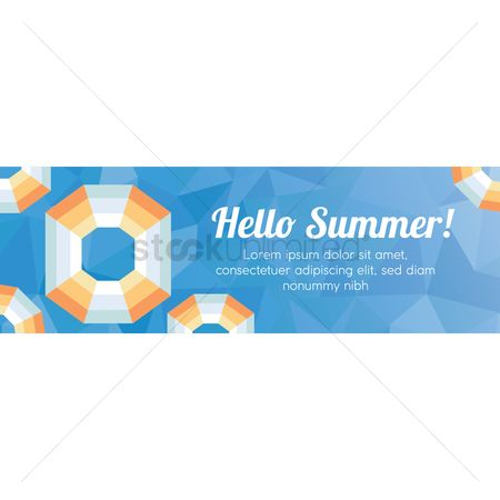 Lifebuoy : Faceted hello summer banner