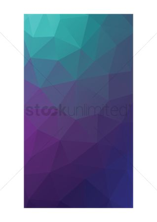 Clean : Faceted mobile interface wallpaper