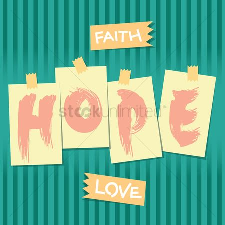 Compassion : Faith hope love typography design