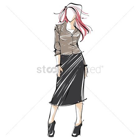 Skirt : Fashion model sketch