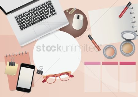 Mouse pad : Fashion workspace design