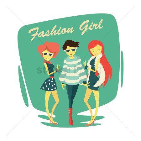 Posing : Fashionable girls design concept