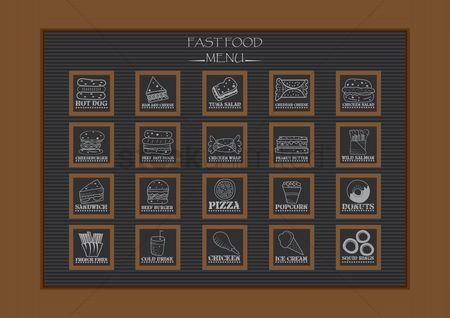Hotdogs : Fast food menu collection