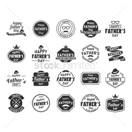 Crown : Father s day labels collection