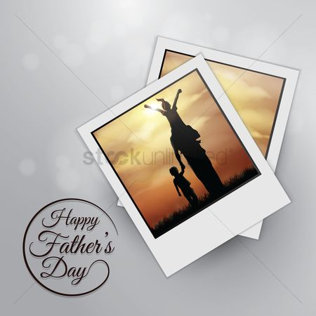 Photography : Fathers day greeting design