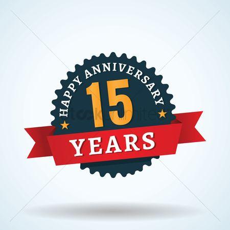 Free 15 Anniversary Celebration Stock Vectors Stockunlimited