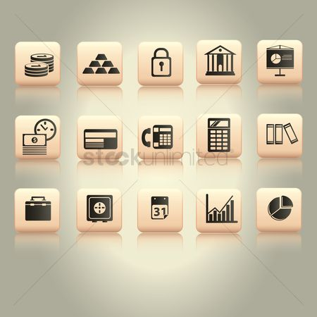File : Finance and business icons