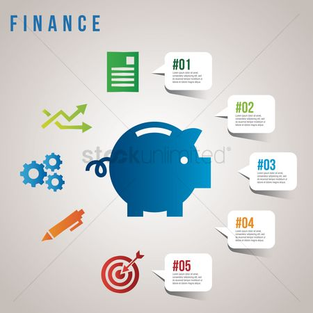 Piggy banks : Finance infographic