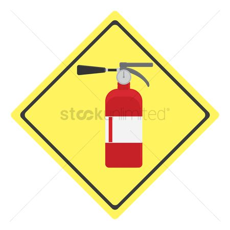 Fire extinguisher : Fire extinguisher sign
