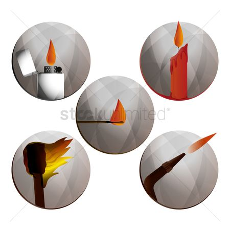 Lighter : Fire related icons