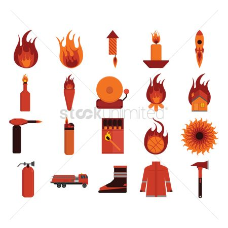 Fire : Firefighter icons