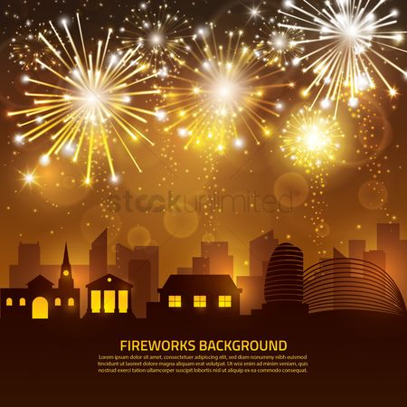 Shine : Fireworks background
