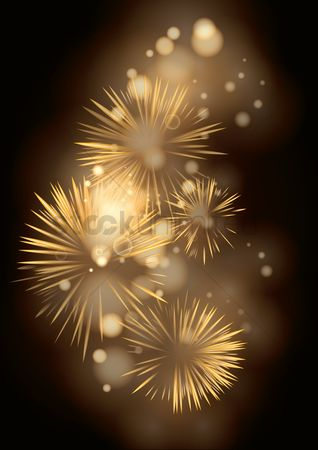 Noisy : Fireworks with bokeh design