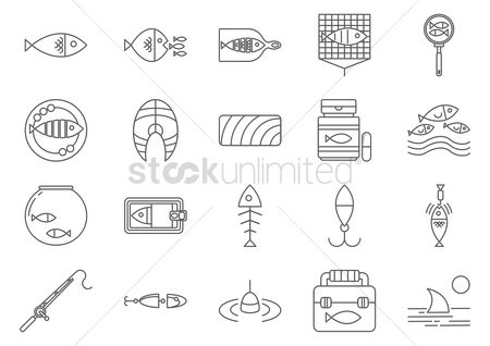 Jar : Fishing icons