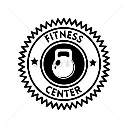 Strength exercise : Fitness center label