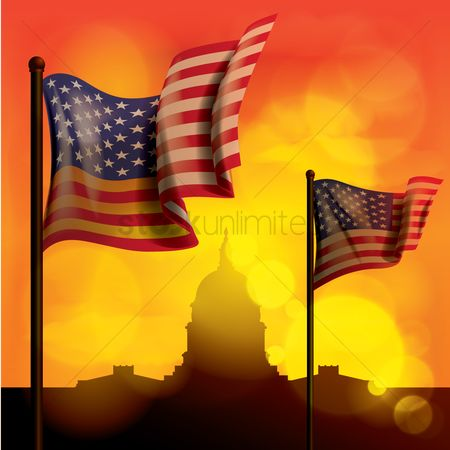 Patriotic : Flags of usa