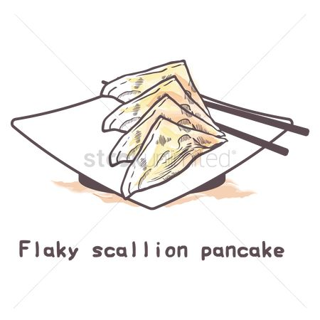 Flour : Flaky scallion pancake