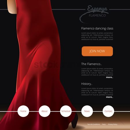 Dancing : Flamenco dance class website template