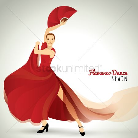 Dancing : Flamenco dancer
