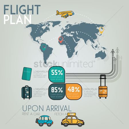 Taxis : Flight plan infographic