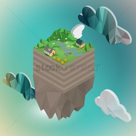 Chimneys : Floating island