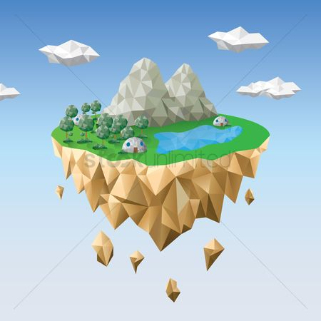 Islands : Floating mountains