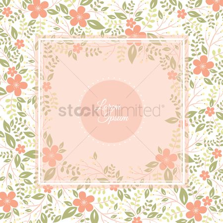 Greetings : Floral background
