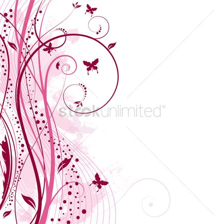 Patterns : Floral grunge background