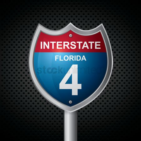 Interstates : Florida 4 route sign