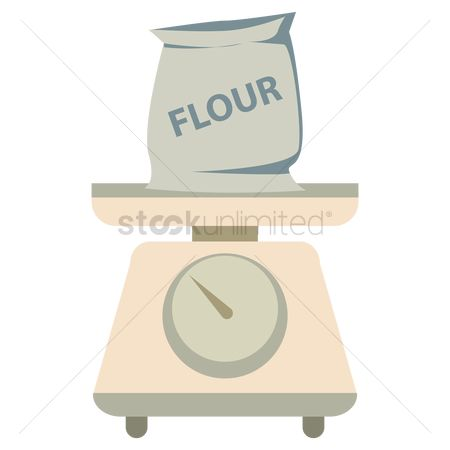 Weighing scale : Flour on weighing scale