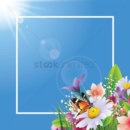 Sunray : Flowers card design
