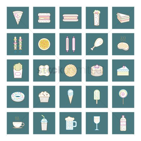 Hotcake : Food and beverage icon set