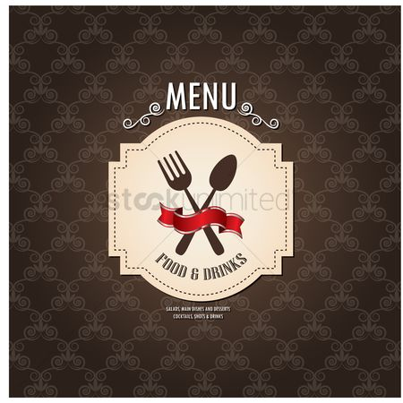 Main : Food and drinks menu design