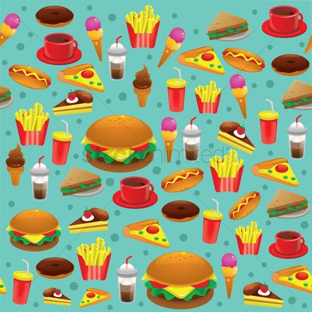 Fast food : Food background