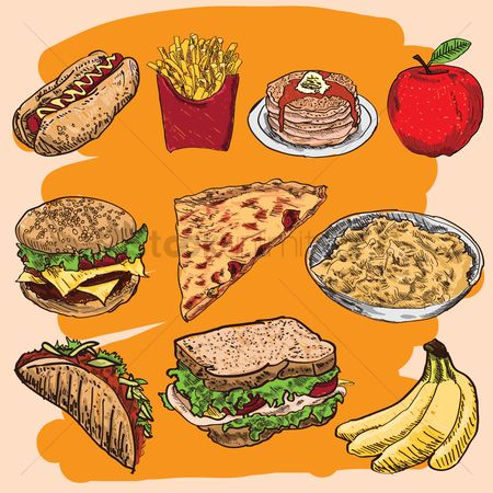 Burgers : Food icon set