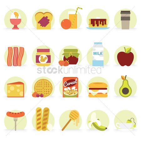 French : Food icons