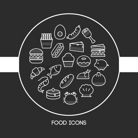 Marine life : Food icons