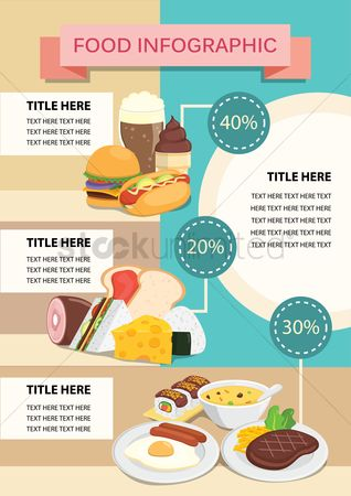 Hamburgers : Food infographic