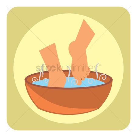 Zen : Foot bath at spa