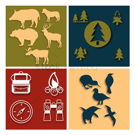Logs : Forest icons