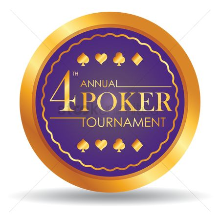 Poker chips : Fourth annual poker tournament chip